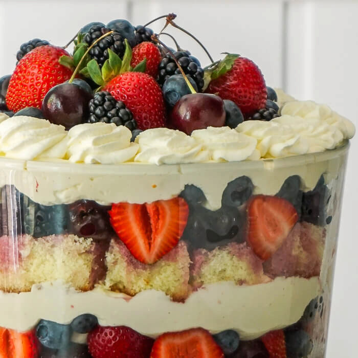 White Chocolate Cheesecake Trifle with Summer Fruit