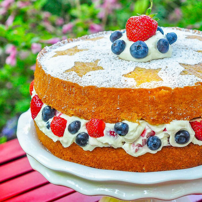 Red White & Blue Cake